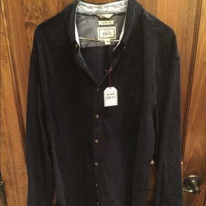 Jos A Bank Black Corduroy Button Up. Never worn!